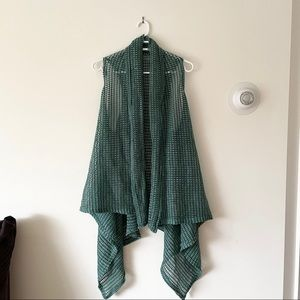 Turquoise Waterfall Vest